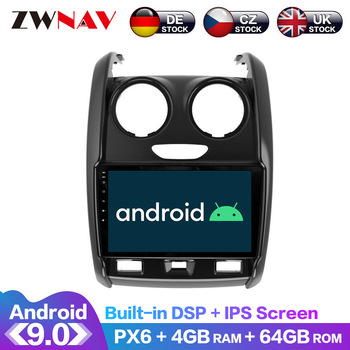 For Renault Duster 2015-2020 Android IPS Screen PX6 DSP Car No DVD GPS Multimedia Player Head Unit Radio Navi Audio Stereo
