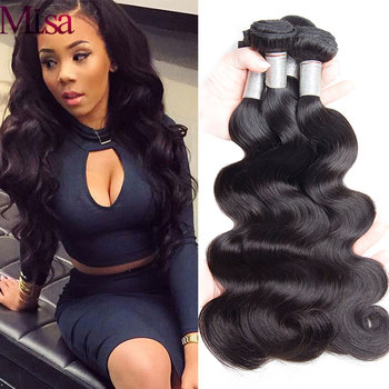 Peruvian Body Wave Hair Weave Bundles 10- 30 inch 100% Human Hair Bundles 1 3 4 Bundles Deal Double Weft Remy Hair Extensions image