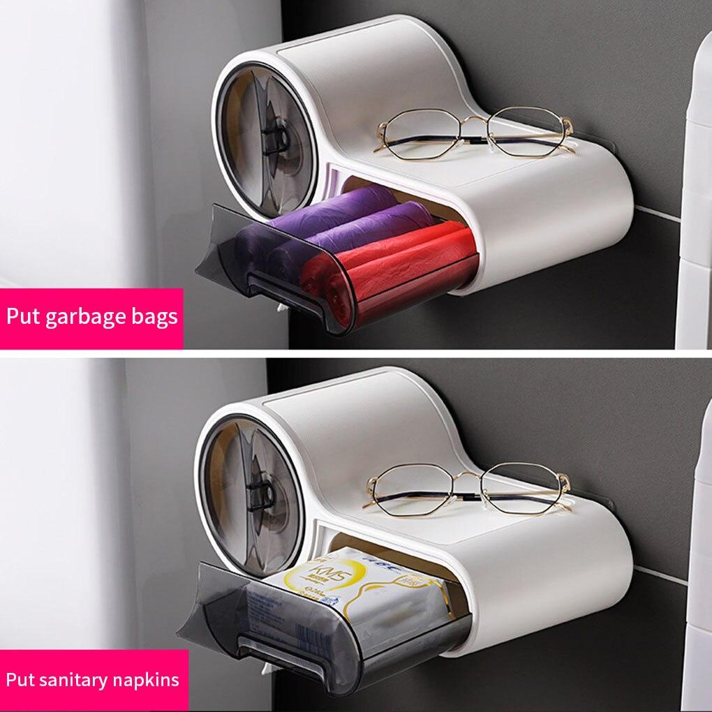 Многофункциональный бумага полотенце вешалка дом гостиница туалет бумага рулон диспенсер ванная комната туалет стена крепление бумага ткань хранение коробка