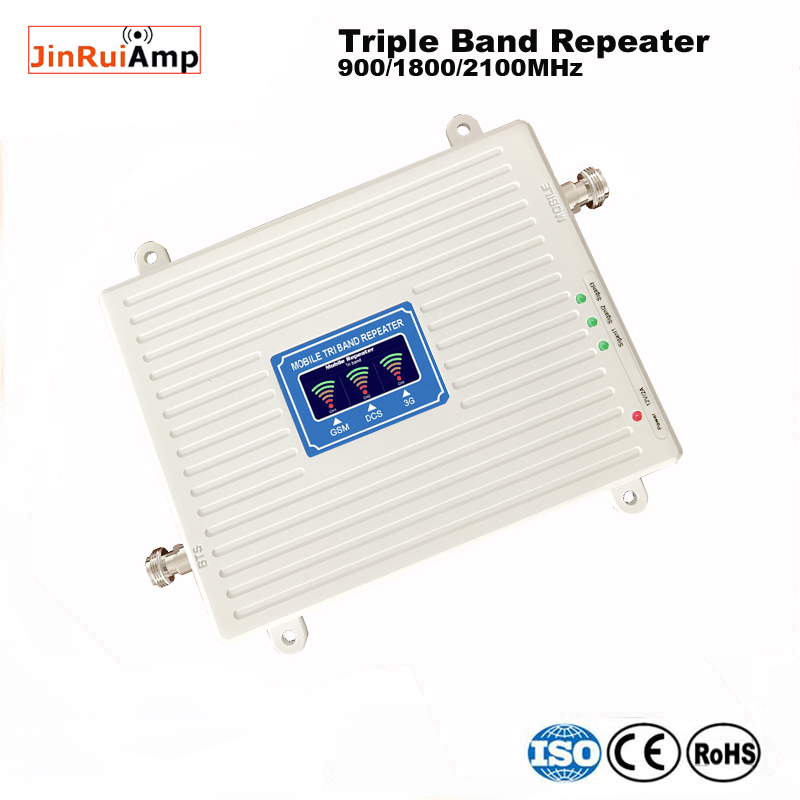 Image 4 - 2g 3g 4g repeater 900 1800 2100 Triple Band repeater gsm 900 dcs 1800 wcdma 2100 Cell Phone Signal Booster cellular amplifier-in Signal Boosters from Cellphones & Telecommunications