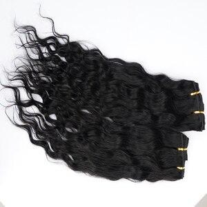 Doreen 120 г 140 г настоящие натуральные человеческие волосы на заколках для наращивания машинные европейские волосы Remy пляжная волна прическа 7 ...