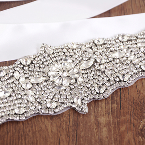 Image 5 - TRiXY S233 Stunning Womens Belt Crystal Wedding Belt Rhinestone Bridal Belt Sashes  Prom Dress Belt Sashes Wide Wedding Belt