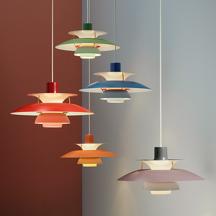 Ccontemporary Lighting Suspension Aluminum Single Pendant Lamp In Different Color Kitchen Chandelier Hanging Lamp
