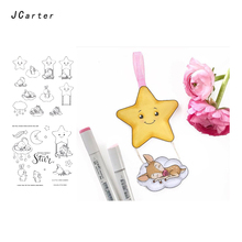 JC Clear Stamps for Scrapbooking Lucky Star Moon Rubber Stamp Silicone Seals Craft Stencil Album Card Making Decoration Sheet серьги other lucky brand stamp 10