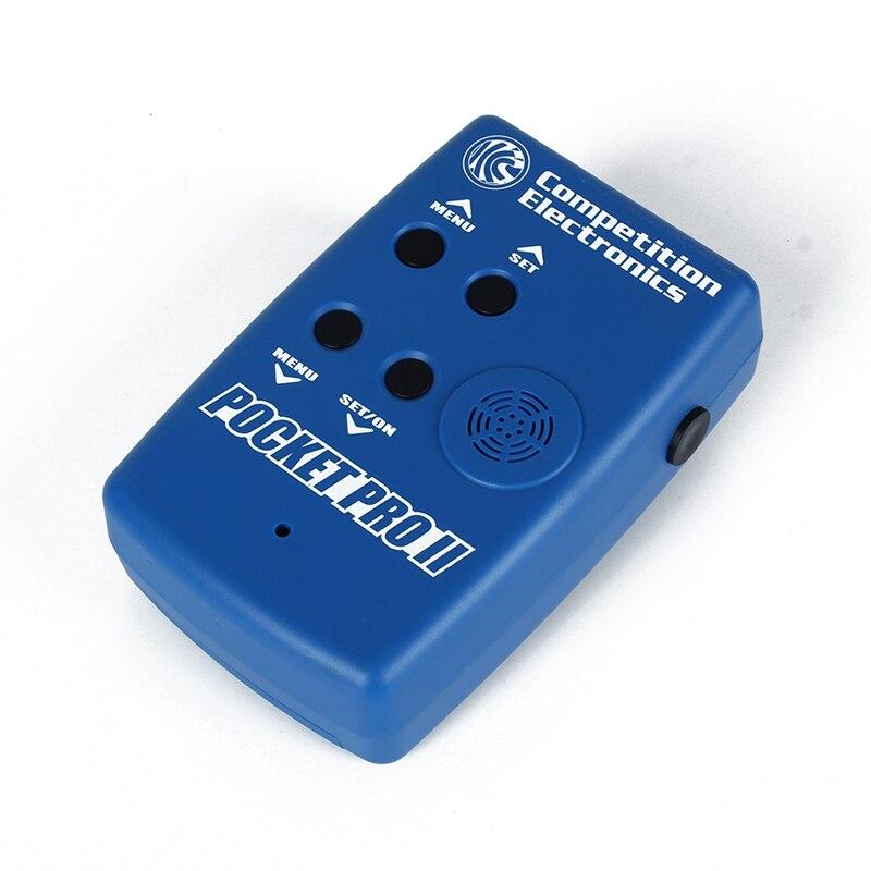 Électronique de compétition poche Pro II minuterie de tir avec capteur Buzzer Beeper chasseur entraînement minuterie de tir mesures de vitesse