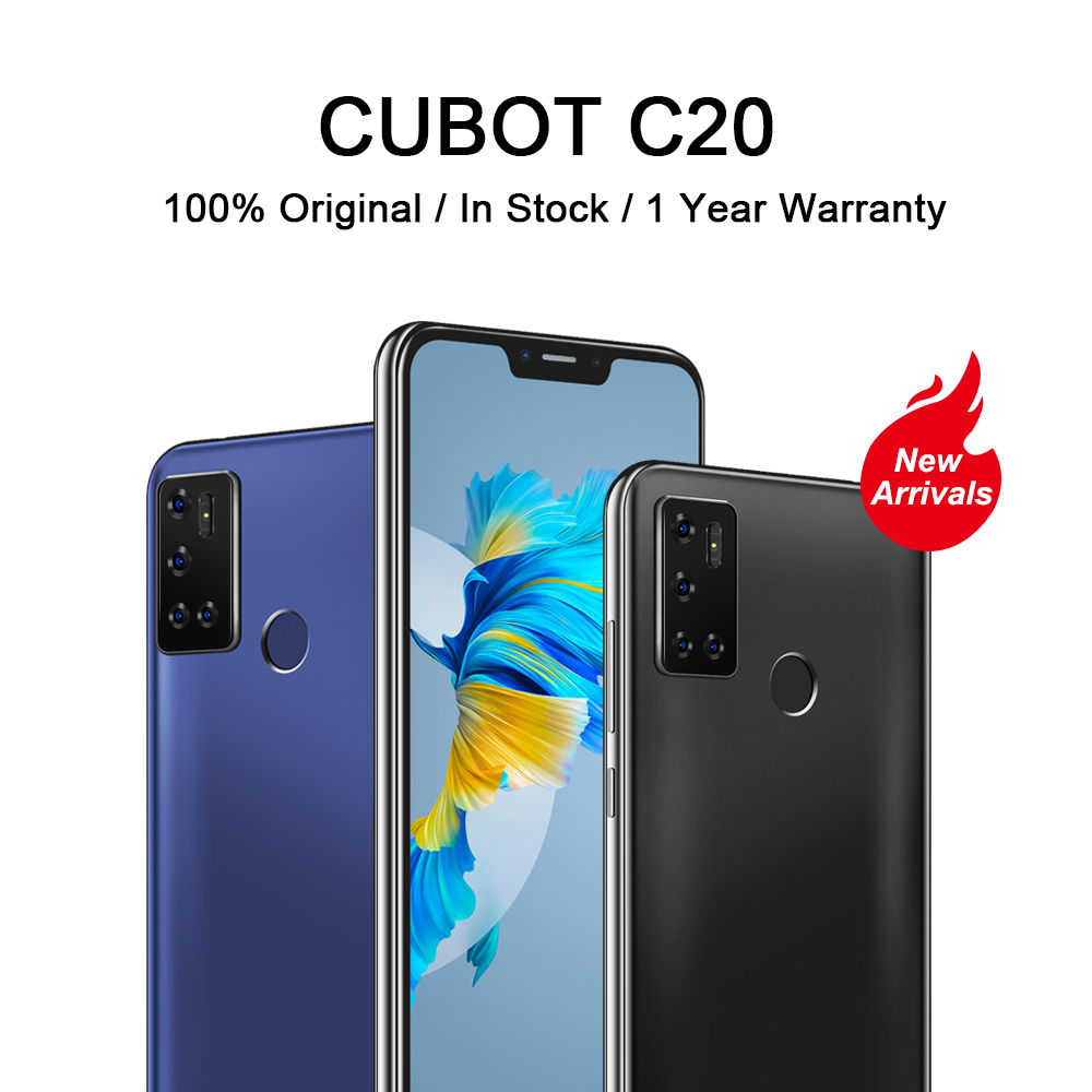 Cubot C20 Smart Mobiele Telefoon 6.18 Inch Octa-Core 4Gb + 64Gb Smartphone 12MP Achteruitrijcamera Nfc vingerafdruk Gezicht Id Unlock Telefoon