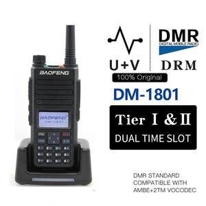 Digital Walkie-Talkie Ham Dmr-Tier Protable-Radio DM-860 Baofeng dm-1801 II Slot Dual-Time