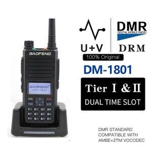 Image 1 - Baofeng DM 1801 ดิจิตอลWalkie Talkie DMRเทียร์IIแบบDual Slot Tier2 Tier1 DMR Digital / Analog DM 860 Hamแบบพกพาวิทยุ