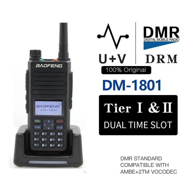 Baofeng DM 1801 ดิจิตอลWalkie Talkie DMRเทียร์IIแบบDual Slot Tier2 Tier1 DMR Digital / Analog DM 860 Hamแบบพกพาวิทยุ