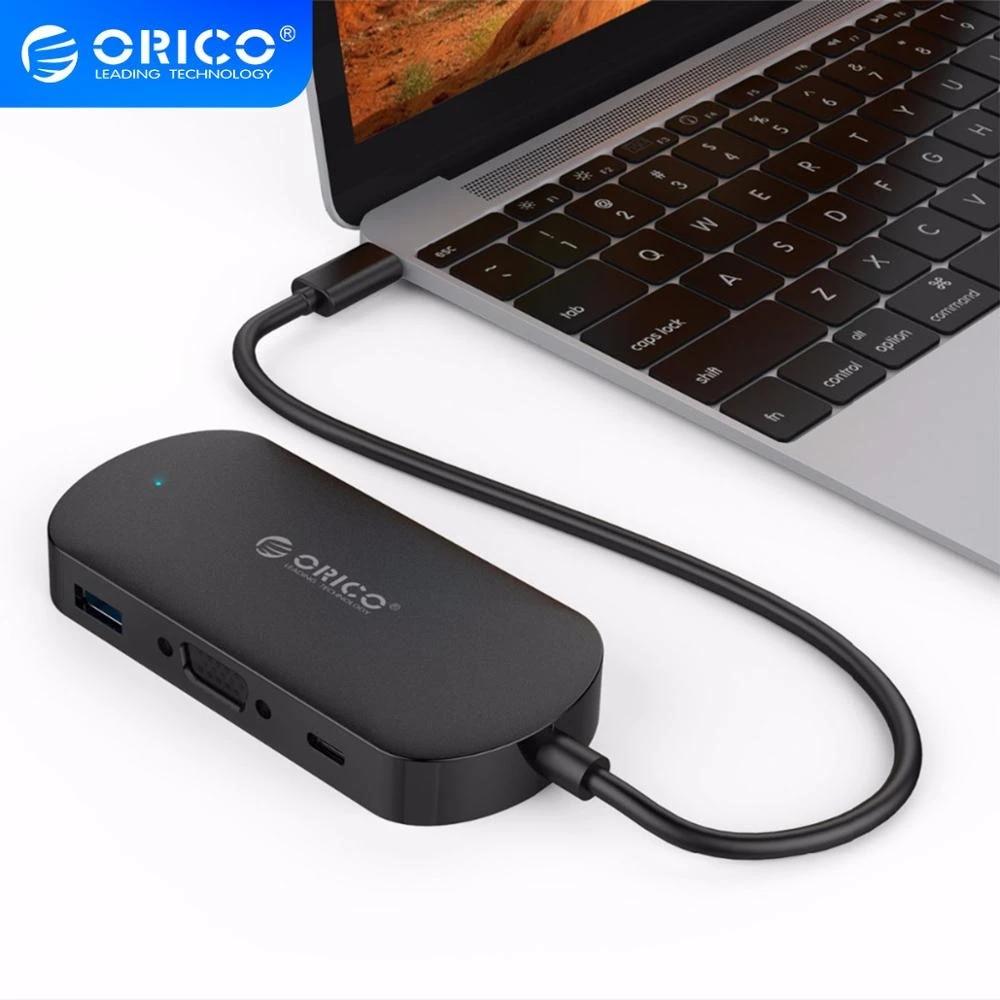 ORICO USB C HUB Type C to Multi USB 3.0 Type C HUB VGA Adapter Dock for MacBook Pro Huawei PC Accessories USB C Splitter