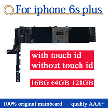 купить Factory original Motherboard For iPhone 6S Plus 6sp Unlocked Mainboard With Touch ID Logic Board with IOS system Panel,NO iCloud по цене 4869.34 рублей