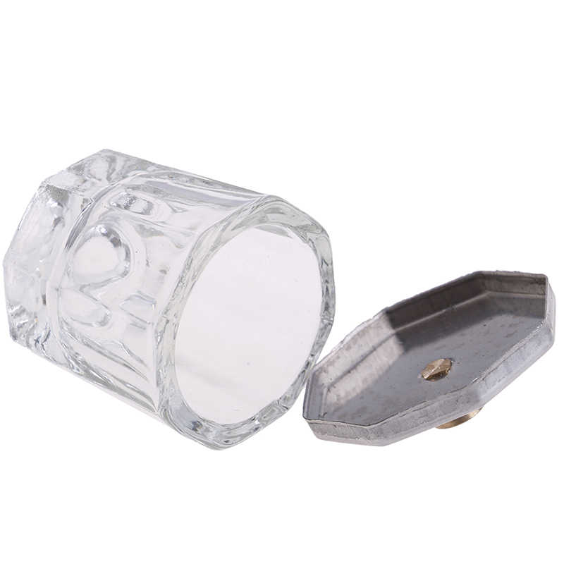 AACAR 1PC Polvere Acrilica Liquido Tazze di Vetro di Cristallo Dappen Dish Bowl Cup Con La Protezione Liquid Powder Manicure Unghie artistiche Strumenti