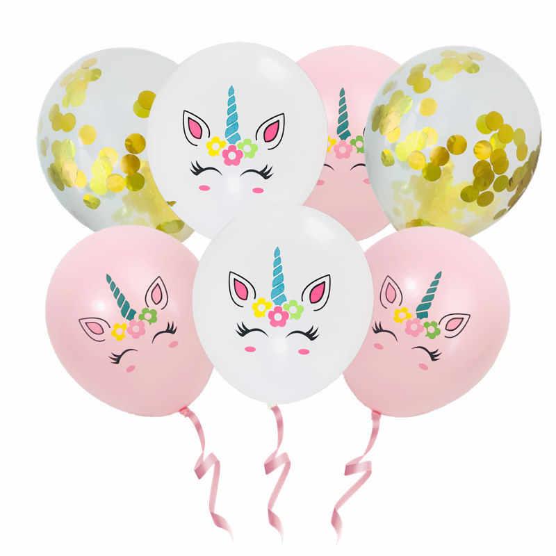 بالونات من اللاتكس مقاس 12 بوصة على شكل وحيد القرن لزينة حفلات أعياد الميلاد للأطفال الكبار من Globos Balony patio versaire Baloon رأس السنة الجديدة