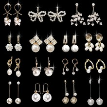 2020 Nieuw Ontwerp Witte Imitatie Natuurlijke Parel Oorbellen Kristal Bloemen Dames Oorbellen Fashion Party Sieraden witte maxxpro 653754