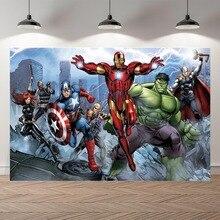 Vinyl Personalisierte super heroes Iron man Hulk Banner Fotografie Hintergründe professionelle indoor Geburtstag Banner Foto Kulissen