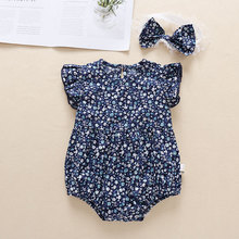 baby girl clothes newborn toddler baby girls rompers lace floral overall outfits sunsuit clothes Summer Infant New Born Baby Girl Rompers Newborn Baby Pretty Clothes Toddler Floral Flying Sleeve Jumpsuit+Bow One Piece Outfits