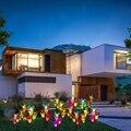 Solar Garten Stake Lichter  Verbesserte Solar Powered Blume Lichter mit 12 Lily Blumen & Schmetterling  7 Farbwechsel LED Solar Lig-in Gartenlampen aus Licht & Beleuchtung bei