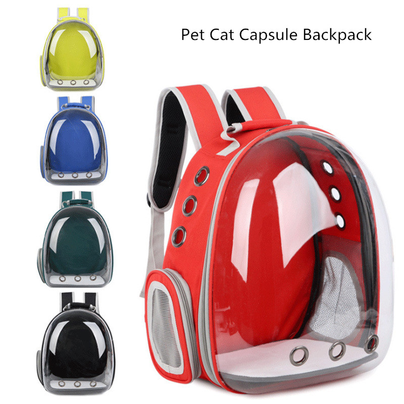 New Style Pet Cat Carrier Backpack Portable Breathable Transparent Capsule Travel Carrying Cages For Pet Cat Puppy Supplies