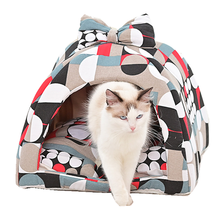 Kennel Pet Bed Dog House All Season Dog Kennel Cat Nest Cloth Dog Kennel Printed Kennel Pet Nest Dog Bed Large Dog House cartoon kennel pet supplies s m l size animal house circular cartoon dog kennel cat kennels all removable and washable dog mat