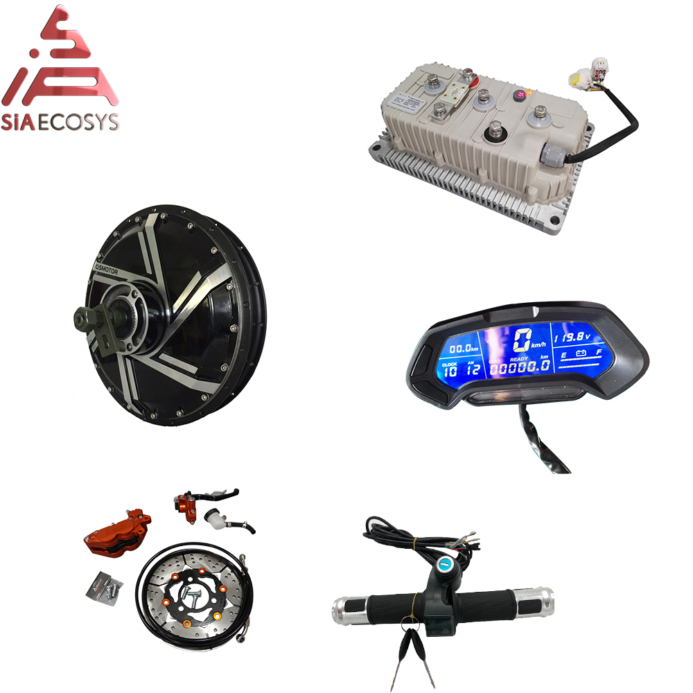 QS 273 8kW E-Motorcycle Spoke Hub Motor Conversion Kits With 72V110KPH Speed