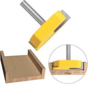 Image 3 - 1PC 8mm shank Cleaning Bottom Router Bits with 8mm Shank,2 3/16 Cutting Diameter for Surface Planing Router Bit