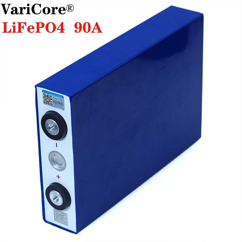 VariCore-batterie de voiture électrique, 3.2V 90Ah, grande batterie LiFePO4, fer au Lithium phospha, 90000 mAh, batteries de moteur de voiture électrique pour moto