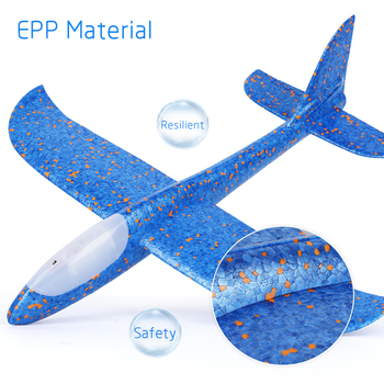 48 CM Hand Throw Airplane EPP Foam Launch fly Glider Planes Model Aircraft Outdoor Fun Toys for Children Party Game 6