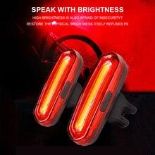 120 люмен светодиодный водонепроницаемый задний светильник велосипедный задний светильник для велосипеда USB Перезаряжаемый отражатель задний светильник s Аксессуары для велосипеда
