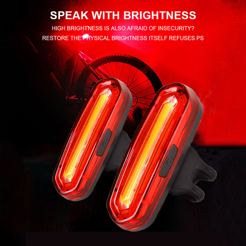 120 Lumens LED Waterproof Tail Light Bicycle Tail Light For Bike USB Rechargeable Reflector Tail Lights Bike Lamp Accessories