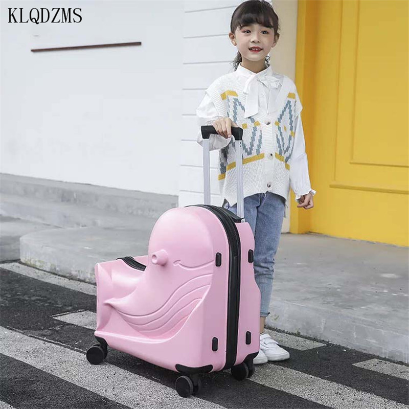 KLQDZMS New Children Rolling Luggage Spinner 20inch Kids Cabin Trolley Suitcase Student Travel Bag Carry On Luggage 24inch