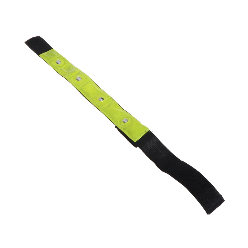LED Light Cycling Arm Band Reflective Running Outdoors Safety Belt Wrist Straps AXYF