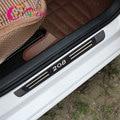 Цвет моя жизнь 4 шт./компл. из нержавеющей стали автомобильная Накладка на порог автомобильные педали Защитная крышка для Peugeot 208 2012 - 2020 аксес...