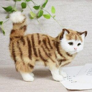 Simulação gato animal modelo casa decoração criativa bonito brinquedo de pelúcia boneca presente