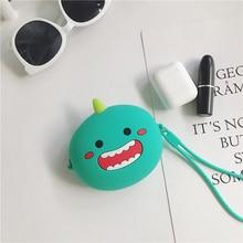 Headphone Case Mini Zipper Hard Cartoon Earphone Box Smiley Dinosaur Data Line/ Key / Money/ Storage Bag