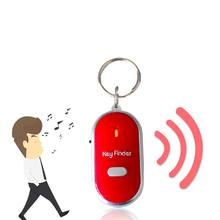 New Sound Control Lost Key Finder Locator Keychain LED Light Torch Mini Portable Whistle Key Finder