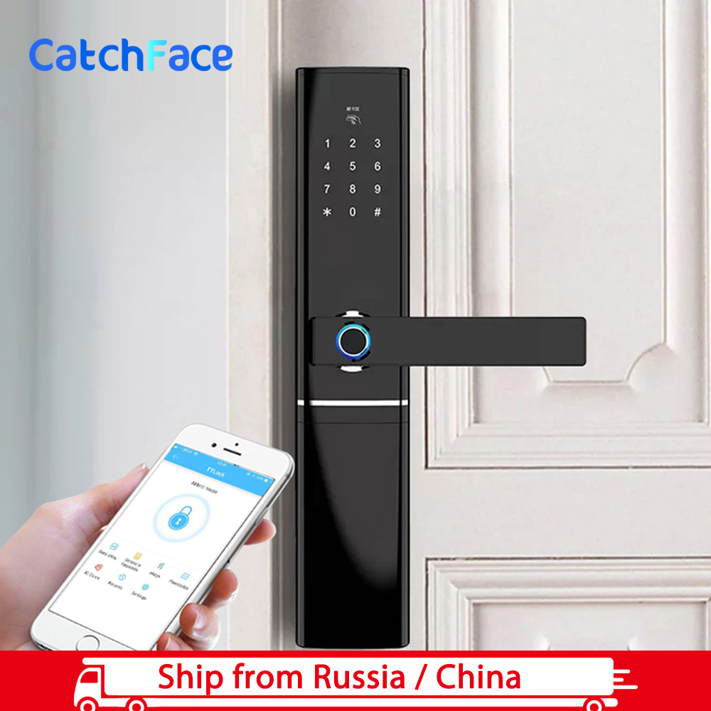 TTlock APP Biometric Electronic Fingerprint Door Lock  Keyless password Bluetooth Smart Lock  Digital WiFi Fingerprint Lock