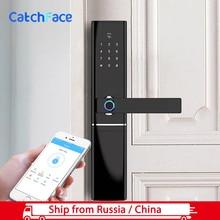 Электронный дверной замок TTlock, биометрический дверной замок с дактилоскопическим сенсором, пароль без ключа, Bluetooth, смарт замок, цифровой, Wi Fi, сканер отпечатка пальца