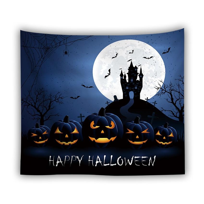 Серия Хэллоуин настенный гобелен из ткани корзинка для Хэллоуина Ужасный Призрак напечатанный настенный гобелен Grand скатерть вечерние украшения - Цвет: color6
