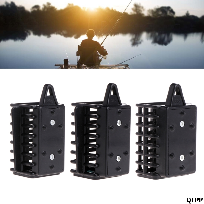 Carp Fishing Cage Feeder Bait Trap Lure Lead Sinkers River Lakes 30g 50g 70g New