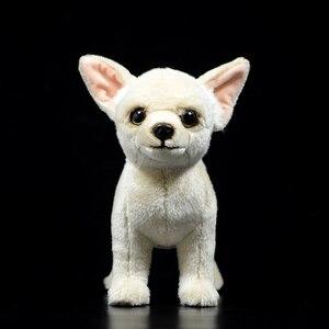 Image 2 - 25 センチメートルリアルなチワワ犬ぬいぐるみかわいい犬子犬ぬいぐるみ人形ソフト実生活チワワおもちゃ子供のためのギフト
