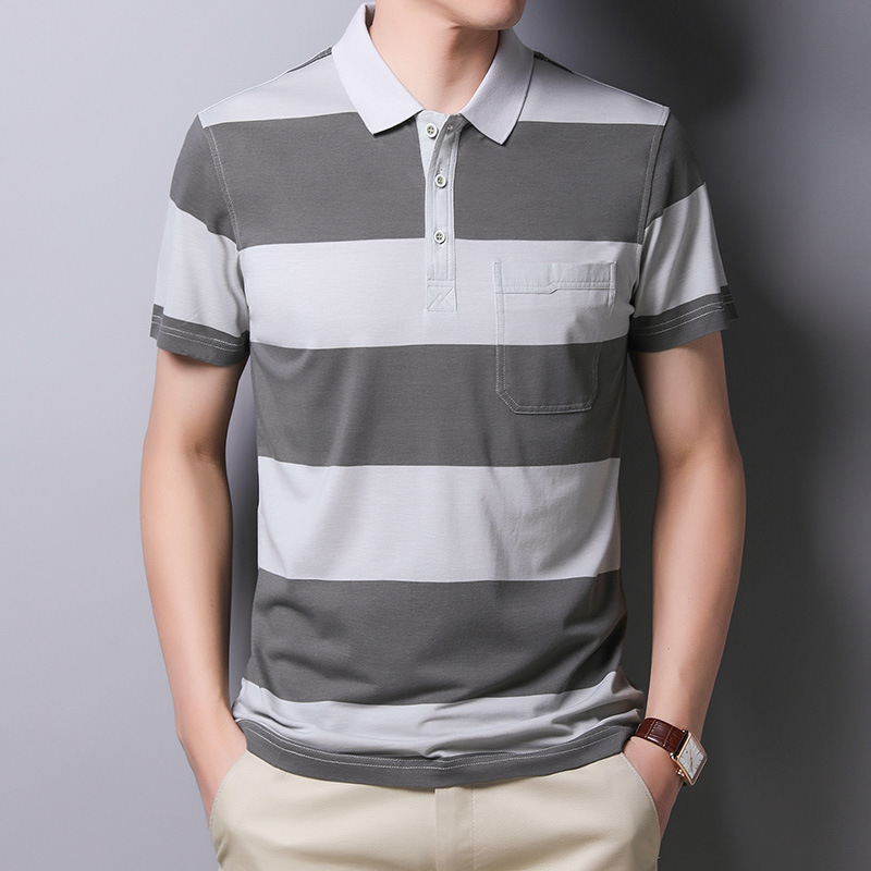 Ymwmhu Cotton Summer Men Polo Shirt Short Sleeve Striped Breathable Tops Tees Casual Korean Style Men S Polo Shirts Brand Hot Price 8b4c Cicig