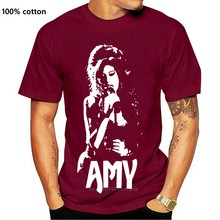 Amy-blanc pochoir t-shirt Amy Winehouse 27 Club britannique Jazz londres chanteur groupe de Rock groupe Punk groupe de métal