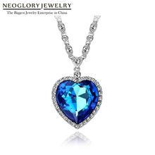Neoglory Blauw Hart Van De Oceaan Ketting De Titanic Voor Liefde Voor Valentijn Cadeaus Versierd Met Kristallen Van Swarovski