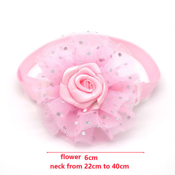 Valentine's Day Pet Supplies Lace Rose Love Style Collar Dog Accessories