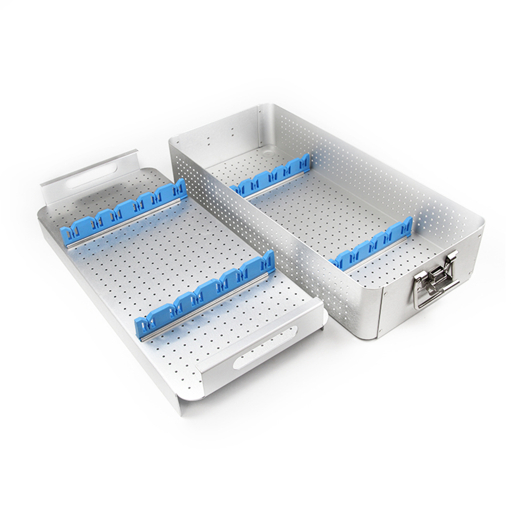 Aluminium Alloy Sterilization Tray For Laparoscope Disinfection Box Double Layer