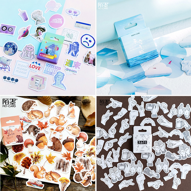 45 pcs/Box Various Stickers Cute Kawaii Planner Journal Diary  Scrapbooking Paper Stickers Stationery 3