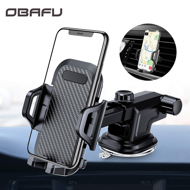 OBAFU Car Phone Mount Dashboard Windshield Air Vent Cell Phone Holder For Car With Vent Clip For Phone In The Car Suction Cup