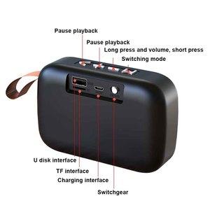 Image 4 - كمبيوتر محمول مكبر الصوت اللوحي الذكي FM لاسلكي قابل للشحن صغير محمول المنزل سمّاعات بلوتوث TF بطاقة ستيريو الصوت المحيطي