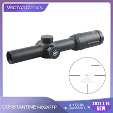 Vector Optics Constantine 1-8X24 FFP 1/10MIL RIFLESCOPE Optical Rifle Scope IPX6 For Hunting Sporting Competition .338 7.62 .308