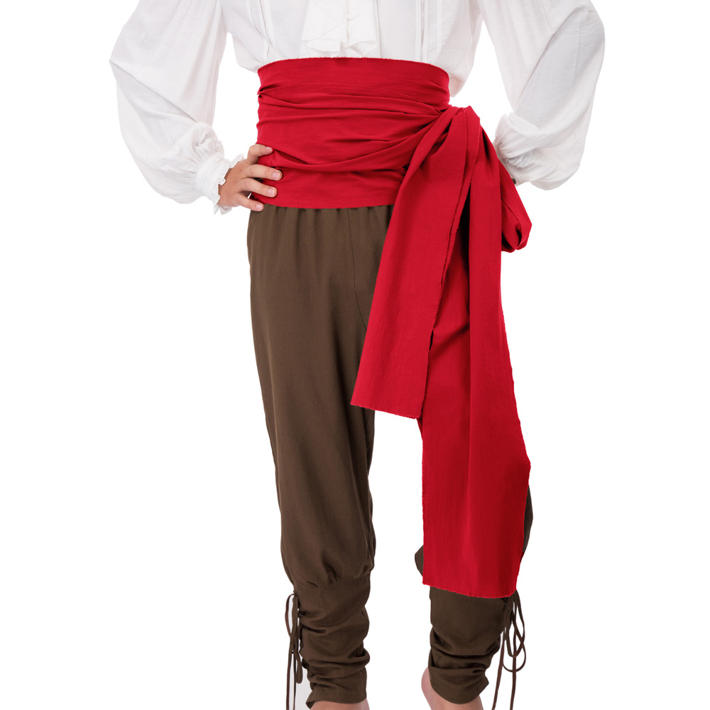 Men's Belts Pirate Large Cotton Sash 157.5*9.5 Inch Renaissance Halloween Costume Vintage Solid Color Wide Waistband Party Club